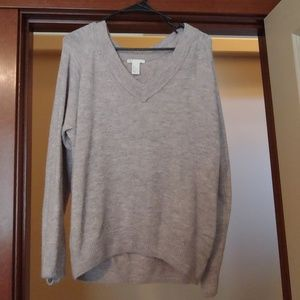 H&M v-neck sweater in heathers gray